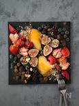 桃とイチジクとベリーのフルーツプレート