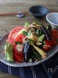 夏野菜とツナと青じそのさっぱりサラダ♪レンジで簡単