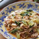 お手軽食材で簡単中華♡白菜と豚こまのピリ辛醤油とろみ煮