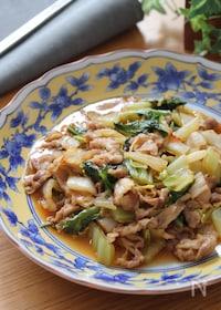 『お手軽食材で簡単中華♡白菜と豚こまのピリ辛醤油とろみ煮』