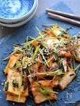 5分で完成♡美味しい節約レシピ♡厚揚げと豆苗のスイチリ炒め♡