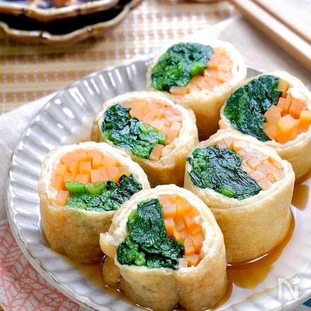 じゅわっと溢れ出る美味しさ♡『お揚げの野菜巻き』