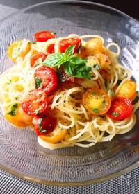 『トマトとバジルの冷製パスタ』