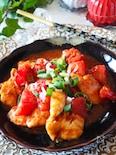 【ご飯がススム】鶏ささみとトマトのピリ辛味噌炒め
