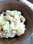 豆乳で作る和風ポテトサラダ