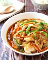 野菜たっぷり栄養満点♡柔らか鶏むね肉の和風カレー風味あんかけ