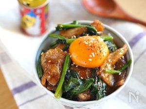 【調味料2つ】すぐ旨!『ほうれん草と豚バラのオイスター丼』