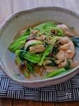 調味料一律大さじ1*鶏肉と小松菜のとろみ煮*
