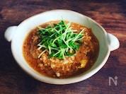 【夜食レシピ保存版】5分豆苗チゲスープ♪