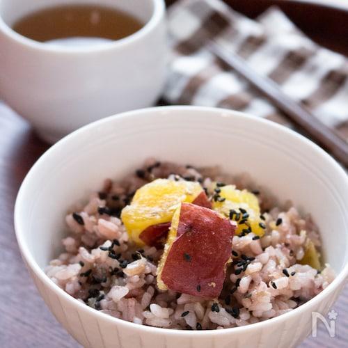 【炊飯器調理のみ】黒米入りさつまいもの炊き込みごはん
