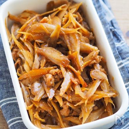 味しみしみでごはんがススム作り置き『豚とごぼうのしぐれ煮』