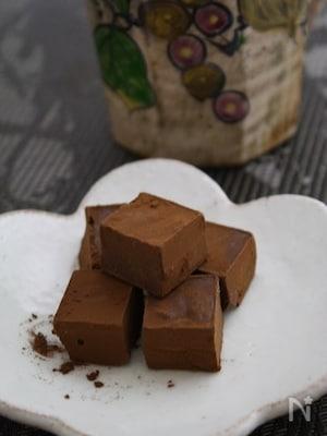 簡単・生クリーム不使用の和風生チョコ
