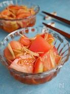 5分で完成!トマトのさっぱり生姜甘酢和え