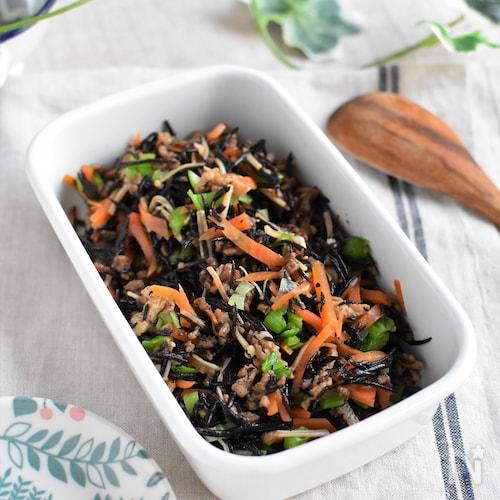 ひじきとそぼろの煮物*子どもが食べやすい!ほっこり和食