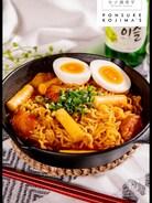 超簡単!辛ラーメンで韓国の定番!ラッポギ