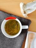 エリンギのコンソメスープ。レンジで簡単!忙しい日の朝食に♪
