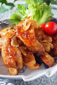 ご飯がススム鶏むね肉のガリバタポン酢【切り方図解付き保存版】