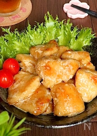 『鶏むね肉がご馳走に♡しっとり柔らかとりマヨポン酢』
