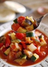 『夏野菜|作り置き|アレンジ|付け合わせ|ラタトゥイユの作り方』