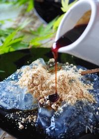 『【材料2つ片栗粉と砂糖】フライパンで作れるぷるるんわらび餅』