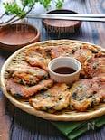 【らくレピ】包丁不要!さば缶と豆腐のもちもち海苔チーズチヂミ