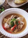 とろっと美味しいっ♡くずし豆腐とカニカマのふんわり卵煮込み