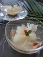 きれいになる梨と白きくらげの薬膳ジュレ