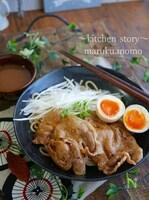 レンジで2分♪柔らか~焼かない焼き豚❤つけ麺&チャーシュー丼
