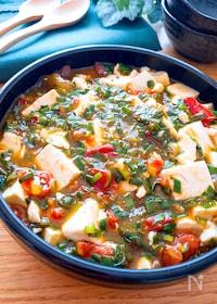 『ヘルシー栄養たっぷり美味しい♡豆腐のトマトにら中華とろみだれ』