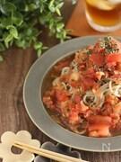 バジル香る冷製トマトそば