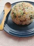 【節約レシピ】納豆と豆苗のチャーハン