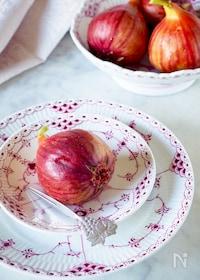 『無花果のコンポート*季節の果物美味しさ長持ち#作り置き』