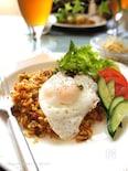 玄米ご飯でキノコ&野菜のナシゴレン