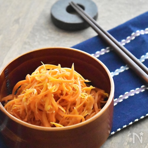 ラクうま♡年中使えるお弁当・常備菜〜人参の出汁バターきんぴら