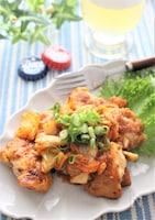 鶏肉のキムマヨ炒め