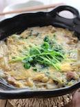 豚肉と白菜のすき焼き風、卵とじ
