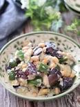 レンチンで簡単♡なすとピーマンのお豆の味噌ごまツナマヨサラダ