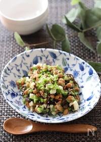 『スプーンでモリモリ食べられる♡納豆の和えるだけ激旨おつまみ』