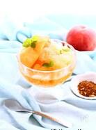 桃とルイボスティーのグラニテ