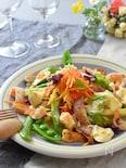 春野菜と鶏とエビのごちそうサラダ