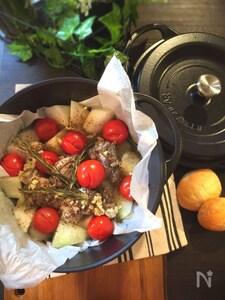 冬瓜と鶏にくのトマト煮