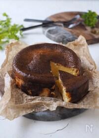 『3種チーズのバスクチーズケーキ【ワンボウ混ぜるだけ・簡単】』