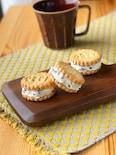 ラムレーズンクリームチーズのクッキーサンド