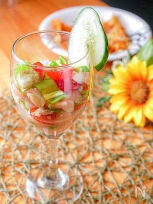 野菜たっぷりさっぱり!メキシコ料理セビーチェ