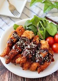 『フライパンでお手軽♪鶏むね肉でスティックチキンカツ』