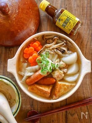 レモスコぽん酢が決め手!ホッと温まる鶏肉と野菜の鍋