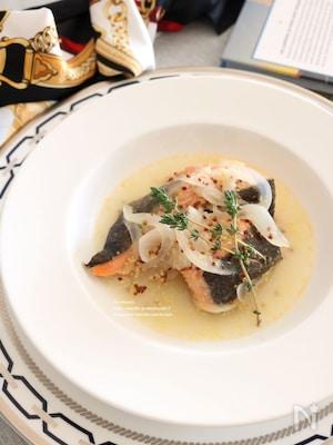 鮭のマスタード煮
