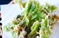 【天ぷら粉なくて自家製天ぷら粉】薄力粉でカリッと山菜の天ぷら