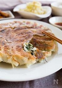 『『小松菜で。焼き餃子』#ビールに合う#野菜たっぷり』