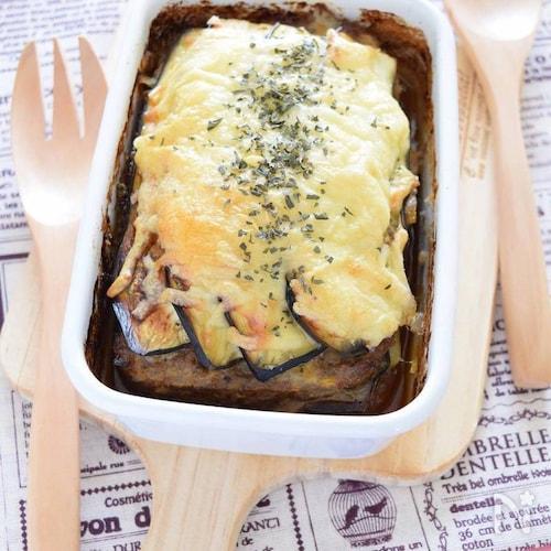 絶品♡なすとチーズのバジルミートローフ(ハーブ料理)